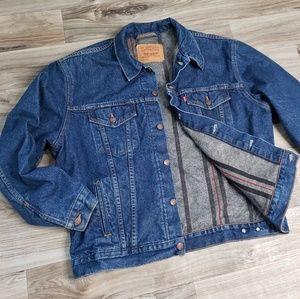 VTG Levi's Blanket Lined Trucker Jacket Button Up